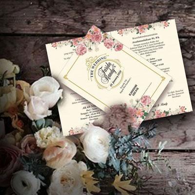 undangan pernikahan vintage 06