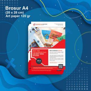 Cetak Brosur A4 (1sisi) Art Paper 120 gsm