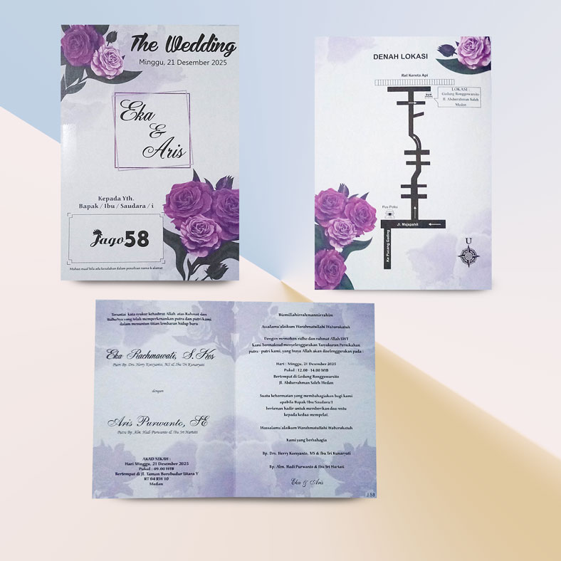 Jual cetak undangan pernikahan jago58