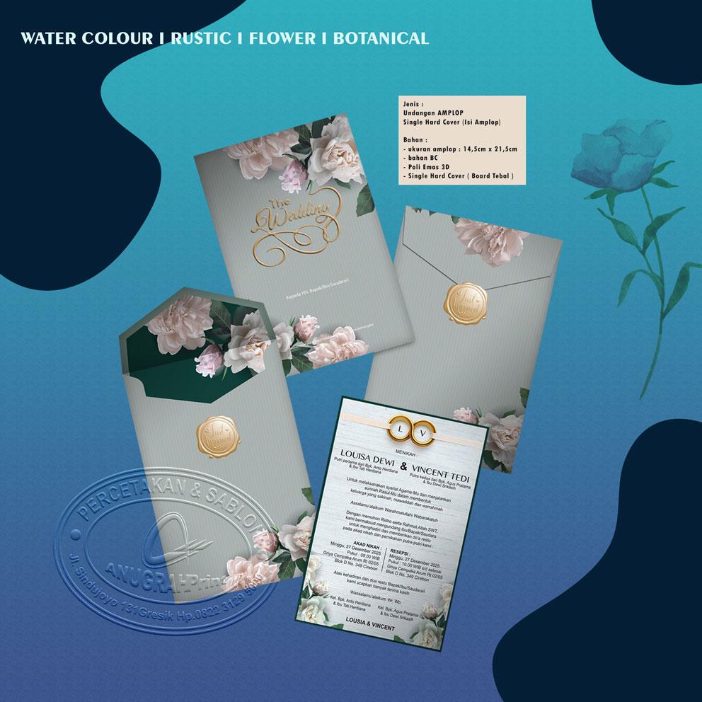 jual undangan pernikahan single hardcover