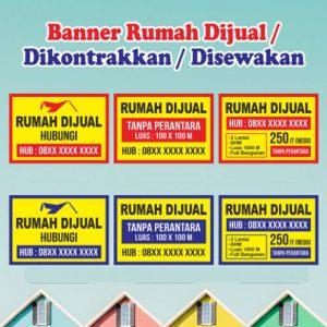 Cetak Spanduk Banner Dikontrakkan/ Dijual/Terima Kos